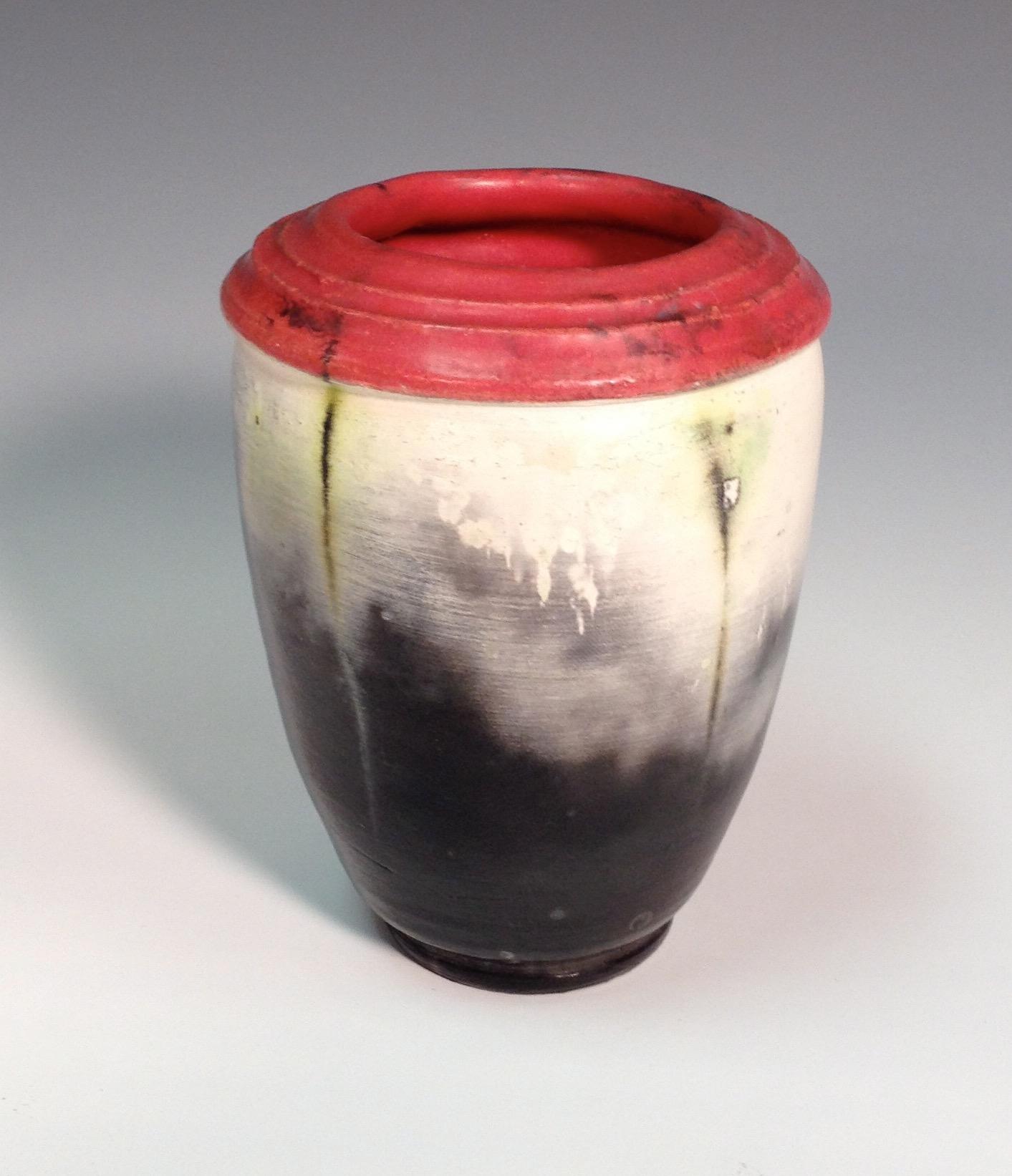 Copper Wrapped Saggar Vase
