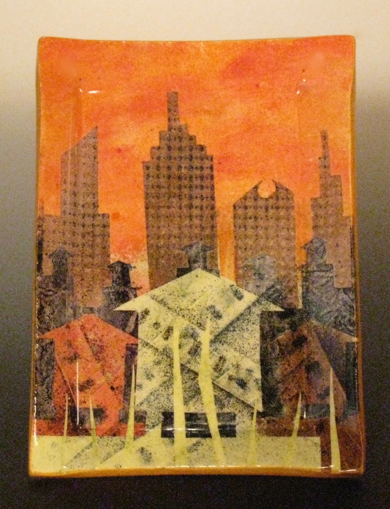 Watertower Monoprint